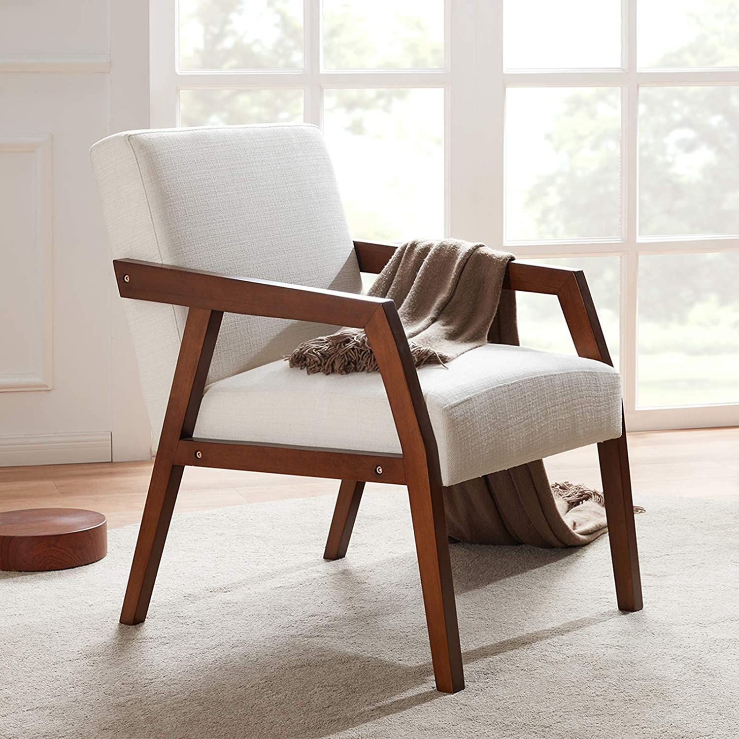 Huimo Arm Chair Accent, Lounge Chairs With Wooden Arms
